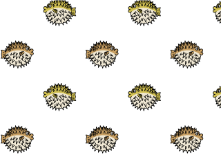 Cute porcupine fish wallpaper