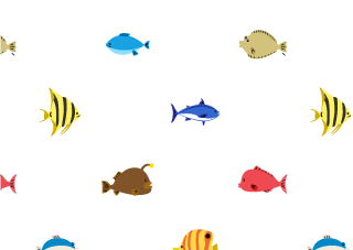 Cute sea fish wallpaper