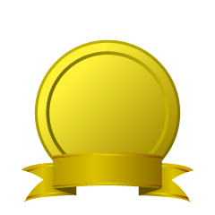 Gold plate with gold ribbon