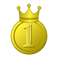 First place plate with gold crown