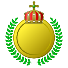 Kin's crown gold plate