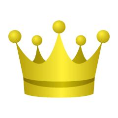 まとめ王冠のフリーイラスト素材集イラストイメージ