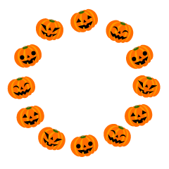 Happy Halloween pumpkin circle