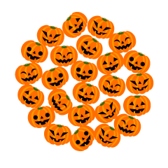 Halloween pumpkin circle