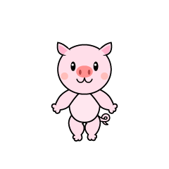 Pork character dancing