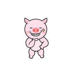 Pig character that eat acorns