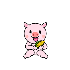 Walking Pig Character