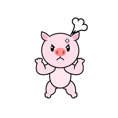 Angry pig character