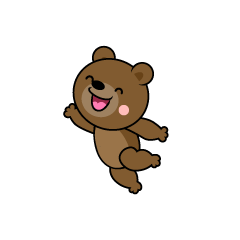 Jumping Bear Character