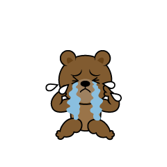 Depressed bear character