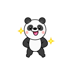 Panda Character to be good
