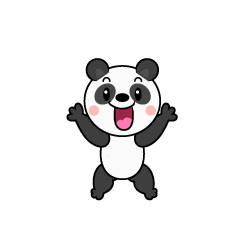 Surprised Panda Character