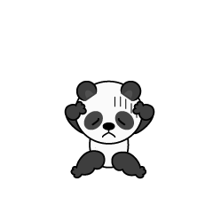 Panda character troubled