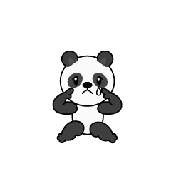 Very relaxing panda character