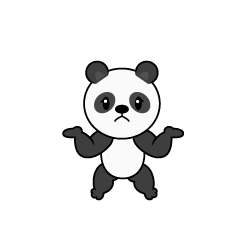 Full stomach panda character