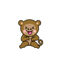 Laughing monkey character
