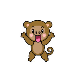 Surprised monkey character
