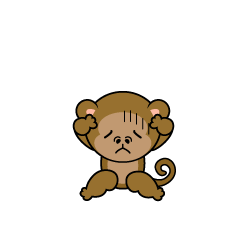 Troubled monkey character