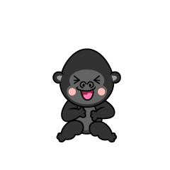Laughing gorilla character