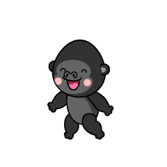 Speaking Gorilla Character