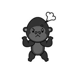 Angry Gorilla Character