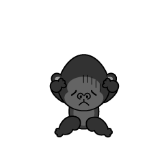 Troubled Gorilla character