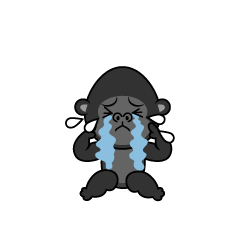Feel depressed Gorilla character