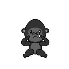 Relaxing Monkey Character