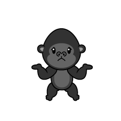 Full Stomach Monkey Character