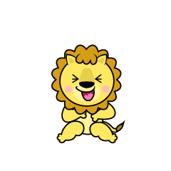 Laughing Lion Character