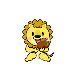 Walking Lion Character