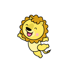 Jumping Lion Character