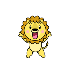 Surprised Lion Character