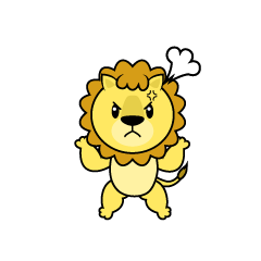 Angry Lion Character