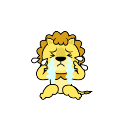Depressed Lion Character