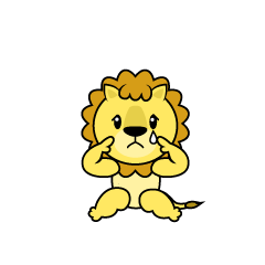 Relaxing Lion Character