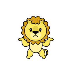 Full Stomach Lion Character