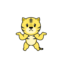 Full stomach Tiger character