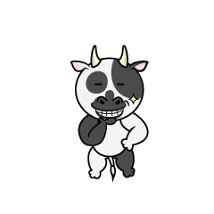 Drinking Milk Cow Character