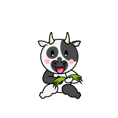 Walking Cow Character