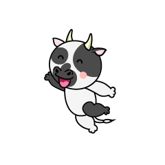 Jumping Cow Character