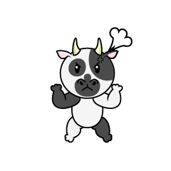 Angry Cow Character