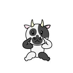 Relaxing Cow Character