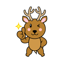 Deer Character to be proud