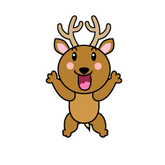 Surprised Deer Character