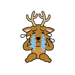 Depressed deer character