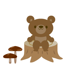 Mushrooms and bear