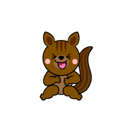 Laughing Squirrel Character