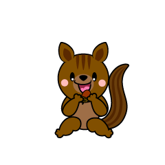 Walking Squirrel Character