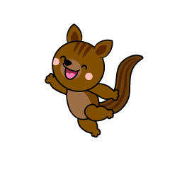 Jumping Squirrel Character